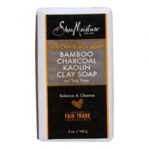 African Black Soap Bamboo Charcoal Kaolin Clay Soap by Shea Moisture for Unisex - 5 oz Bar Soap