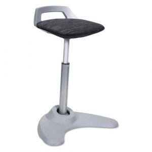 Alera AdaptivErgo Sit to Stand Perch Stool, Black with Silver Base