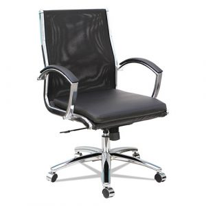 Alera Neratoli Mid-Back Slim Profile Chair, Supports up to 275 lbs,