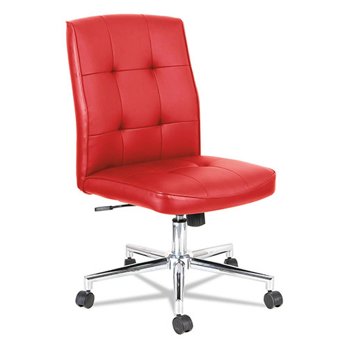 Alera Slimline Swivel/Tilt Task Chair, Supports up to 275 lbs., Red