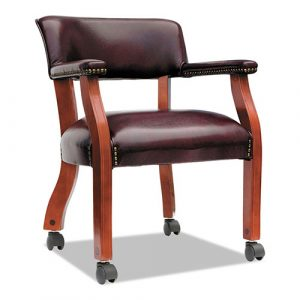 Alera Traditional Series Guest Arm Chair with Casters, 23.22'' x