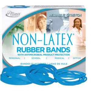 Alliance Rubber Antimicrobial, Latex Free Rubberbands, 1/4 Lb, Style