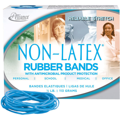 """Alliance Rubber Antimicrobial Rubber Bands, Latex Free, 3 1/2"""" x"""