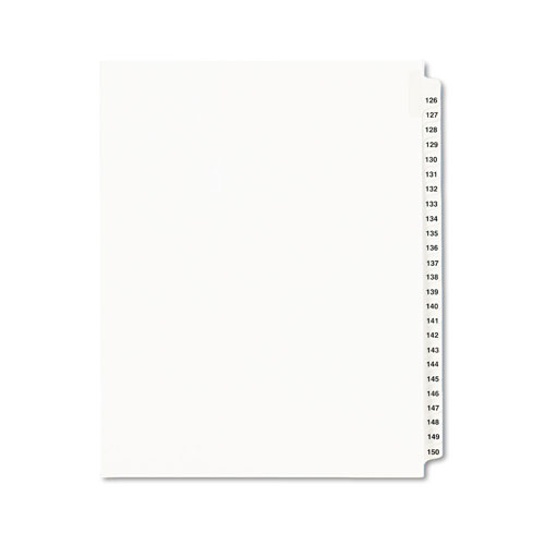 Avery Preprinted Legal Exhibit Side Tab Index Dividers, Avery Style,