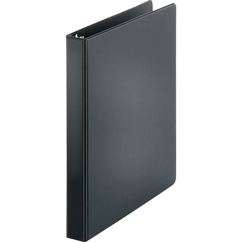 """Business Source 35% Recycled D-Ring Binder, 1"""" Capacity, Black"""