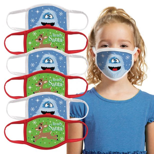 Child's Rudolph the Red-Nosed Reindeer® Washable Face Masks - 6 Pc.