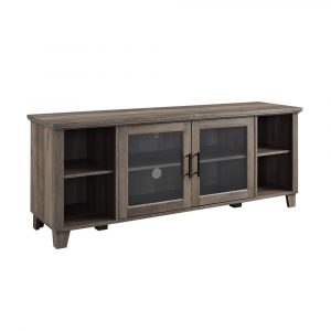 """Columbus Middle Doors TV Stand for TVs up to 65"""" Gray Wash - Saracina Home"""