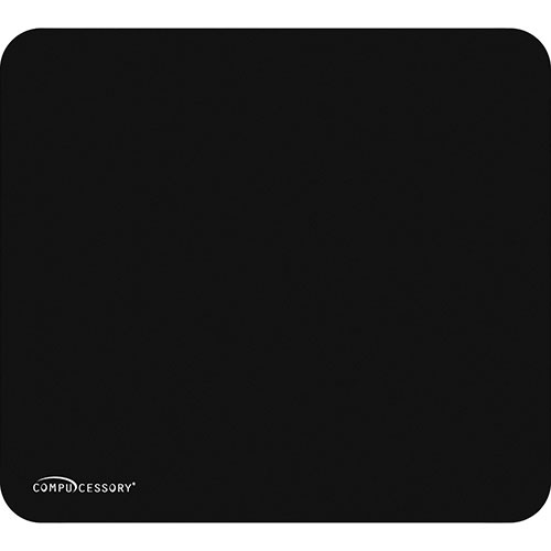 Compucessory 23617 Black Economy Mouse Pad w/Nonskid Rubber Base, 9