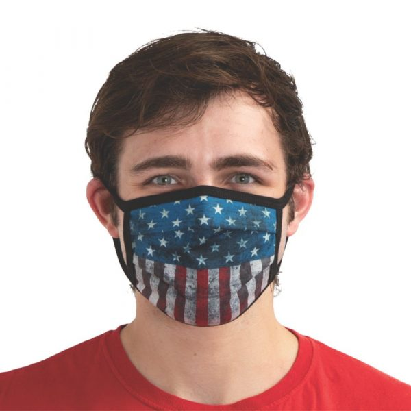 Distressed Patriotic Washable Face Mask
