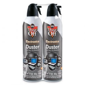 Falcon Safety Disposable Compressed Air Duster, 17 oz Cans, 2/Pack