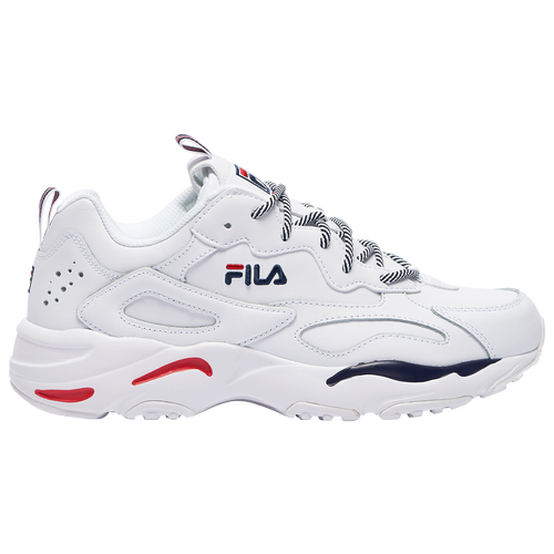 Fila Mens Fila Ray Tracer - Mens Shoes White/Navy/Red Size 07.0