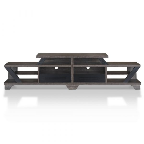 """Harla Contemporary TV Stand for TVs up to 80"""" Distressed Gray - HOMES: Inside + Out"""