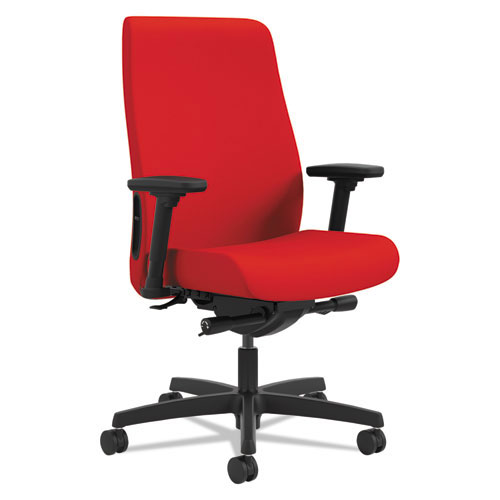 Hon Endorse Upholstered Mid-Back Work Chair, Ruby