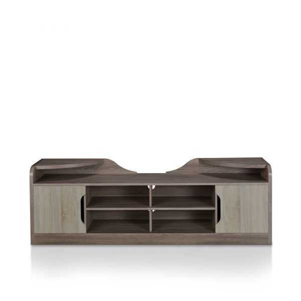"""Ingley Storage TV Stand for TVs up to 70"""" Chestnut Brown - miBasics"""