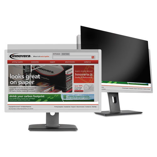 """Innovera Blackout Privacy Filter for 19"""" Widescreen LCD, 16:10 Aspect"""