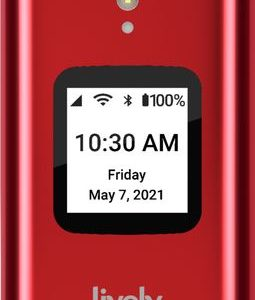 Lively™ - Lively Flip Cell Phone for Seniors - From the makers of Jitterbug - Red
