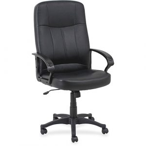 """Lorell High Back Chair, Leather, 26""""x29 1/2""""x49"""