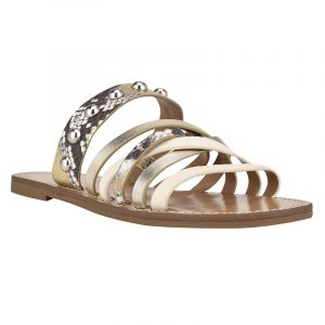 Nine West Colby Women's Strappy Slide Sandals, Size: 5, White
