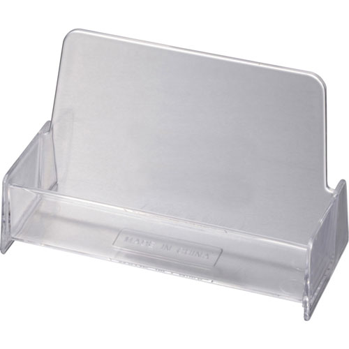 Officemate Business Card Holder, Shatter Resistant, Clear