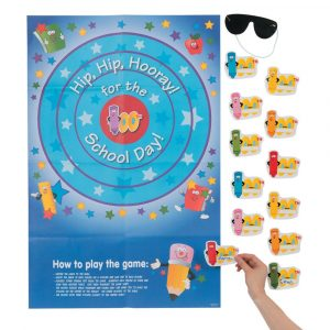 Pin the 100th Day of School on the Target Party Game
