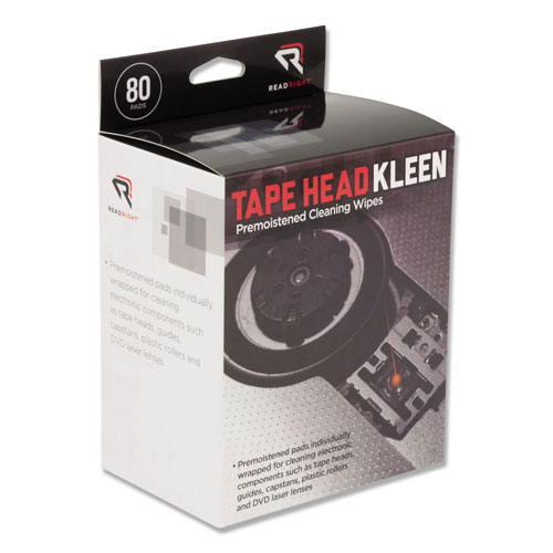 Read Right/Advantus Tape Head Kleen Pad, Individually Sealed Pads, 5