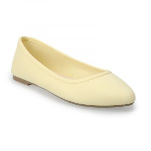 SO Hitide Women's Pointed Toe Flats, Size: 5, Yellow
