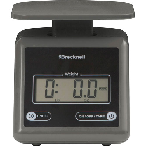 Salter Brecknell Electronic Postal Scale, 7 lbs Capacity, Gray