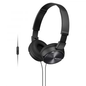 Sony MDR-ZX310AP ZX Series Wired On Ear Headphones with Mic - Black