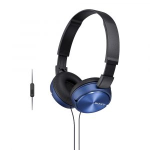 Sony MDR-ZX310AP ZX Series Wired On Ear Headphones with Mic - Blue