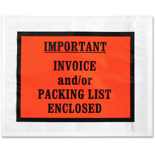 """Sparco Packing/Invoice Envelope, 5.5"""" x 4.5, 1000/BX, White"""