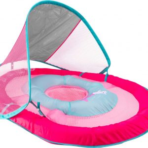 SwimWays Baby Spring Sun Canopy Pool Float, New Pink