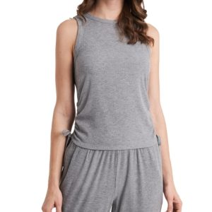 1.state Ruched Side-Tie Tank Top