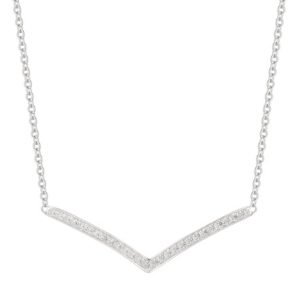1/3 ct. t.w. Round Shape Diamond Necklace in Sterling Silver