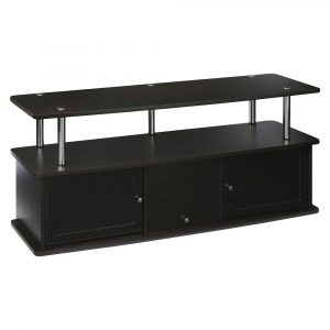 """3 Cabinets TV Stand for TVs up to 50"""" Espresso - Breighton Home"""