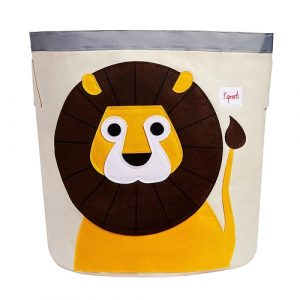 3 Sprouts - Canvas Storage Bin Laundry and Toy Basket for Baby and Lion