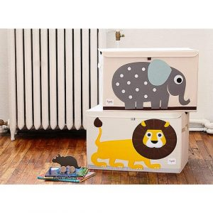 3 Sprouts - Collapsible Toy Chest Storage Bin for Kid's Playroom