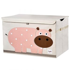 3 Sprouts - Collapsible Toy Chest Storage Bin for Kids Playroom