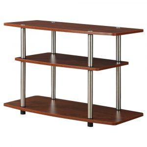 """3 Tier TV Stand for TVs up to 32"""" Cherry - Breighton Home"""