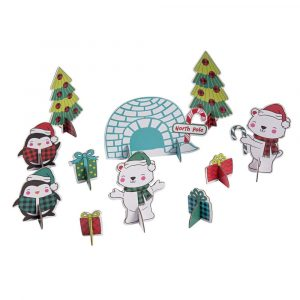 3D Holiday Build & Play Scene Giveaway Kits