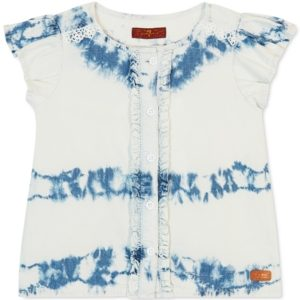 7 for All Mankind Baby Girls 2-Pc. Tie-Dye Top & Shorts Set
