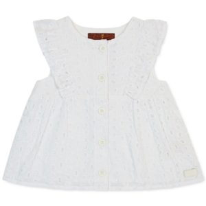 7 or All Mankind Baby Girls 2-Pc. Lace Top & Shorts Set