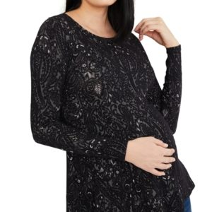 A Pea In The Pod Maternity Paisley Jacquard Top