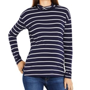 A Pea In The Pod Maternity Striped Turtleneck Top