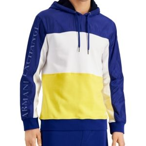 A X Armani Exchange Men's Pieced Colorblocked French Terry Hoodie