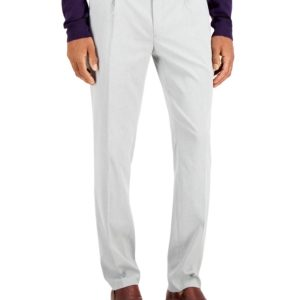 Alfani Men's AlfaTech Classic-Fit Stretch Twill Pleated Dress Pants, Created for Macy's