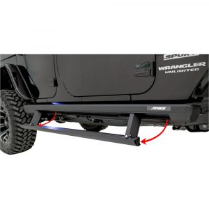 Aries ActionTrac 65-Inch Retractable Powered Running Boards, Select Jeep Wrangler JL