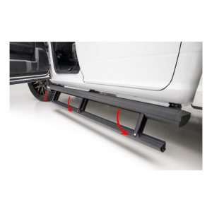 Aries ActionTrac 79-Inch Retractable Powered Running Boards, Select Nissan Titan, XD Crew Cab