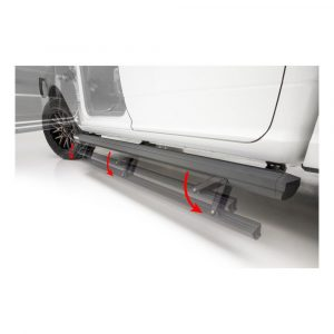 Aries ActionTrac 79-Inch Retractable Powered Running Boards, Select Toyota Tundra Crew Cab