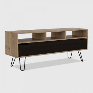 """Aster 2 Door Console TV Stand for TVs up to 60"""" Light Wood - RST Brands"""