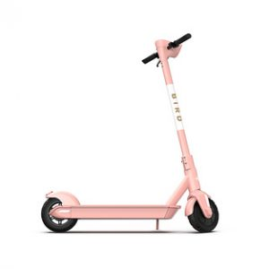 Bird - One Electric Scooter w/25 mi Max Operating Range & 18 mph Max Speed & w/built-in GPS Technology - Electric Rose